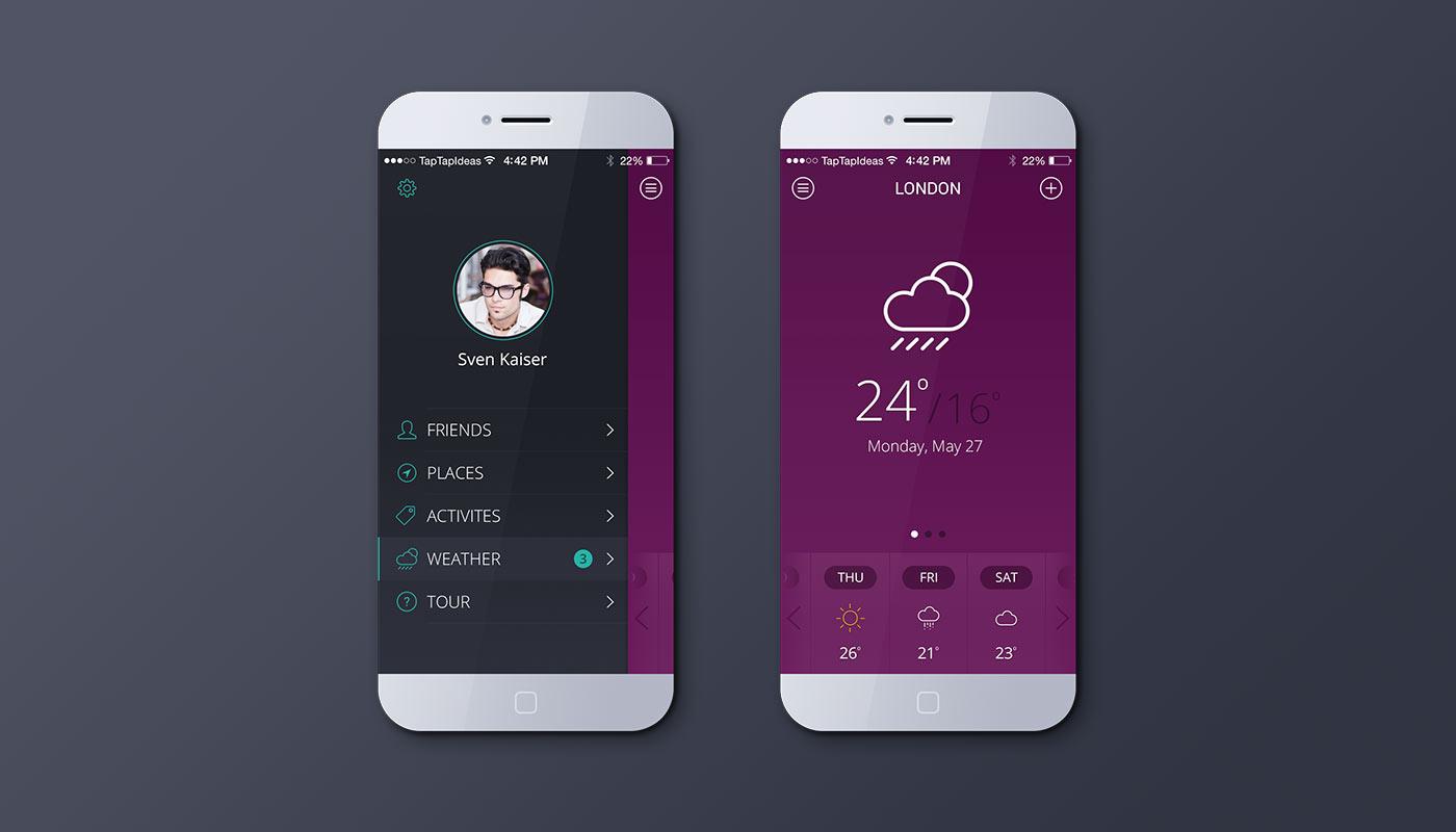 Mobile app – default color